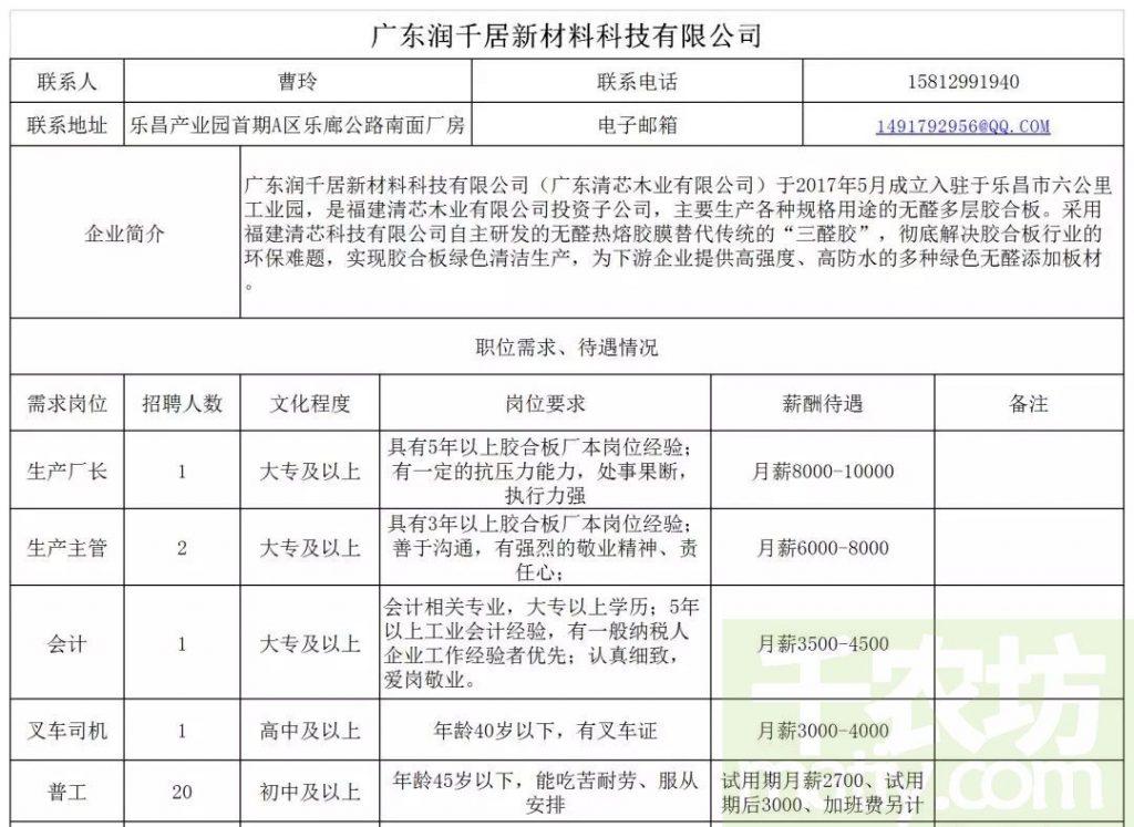 """乐昌市2019年""""南粤春暖""""暨企业用工招聘信息"""